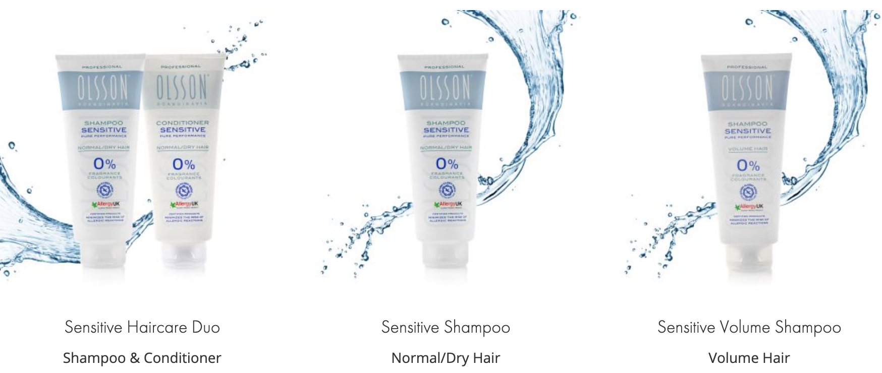 Gentle shampoo and conditioner