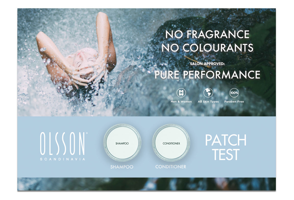 Olsson Haircare Patch Test.