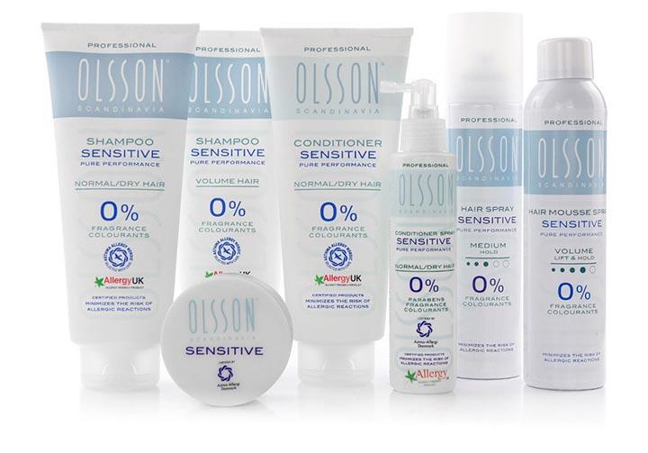 Olsson Sensitive Haircare Product Range