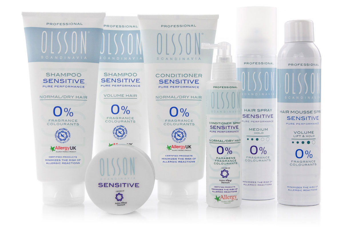 Olsson Sensitive Haircare Product Range